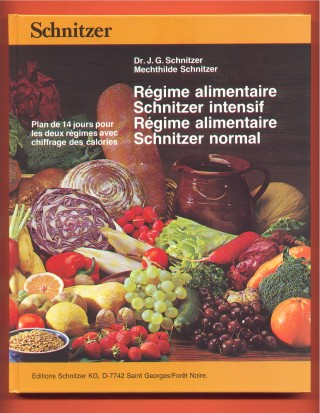 Livre: R�gime alimentaire Schnitzer intensif + normal