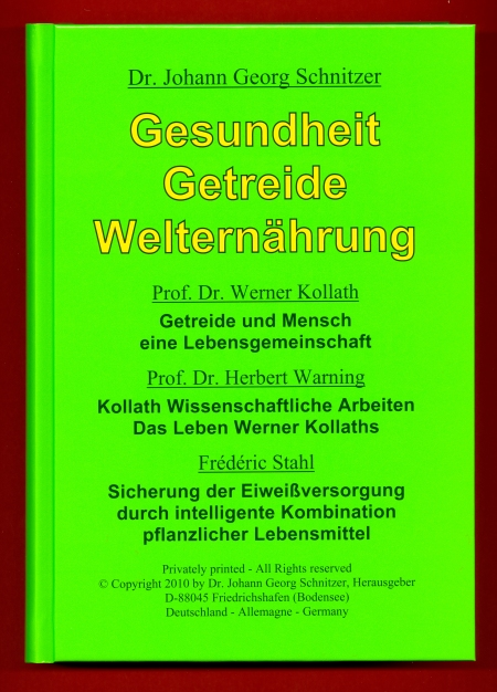 Buch 'Gesundheit, Getreide, Welternährung'